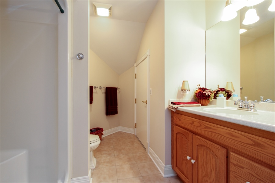 Real Estate Photography - 200 S Green St, McHenry, IL, 60050 - 2nd Bathroom