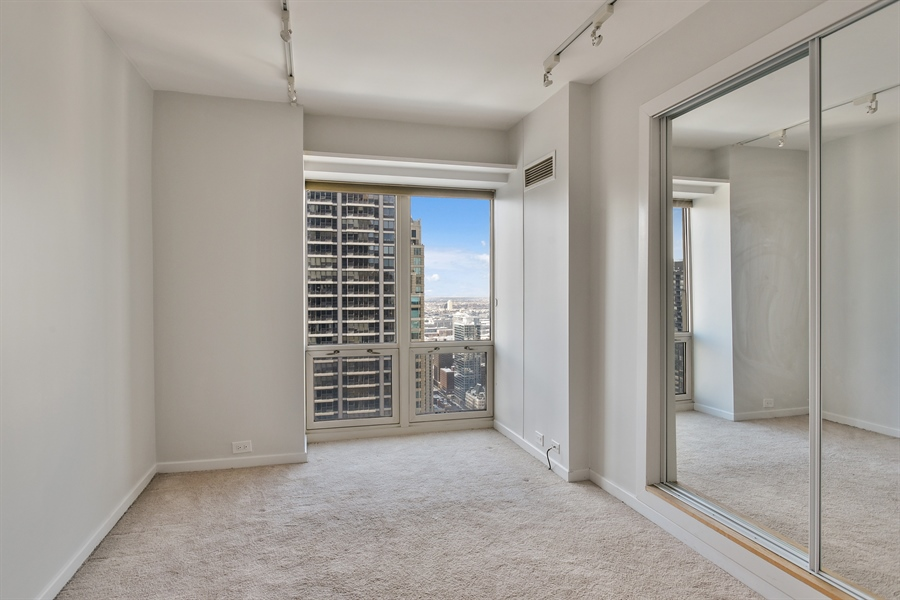 Real Estate Photography - 100 E Huron, 3701, Chicago, IL, 60601 - 2nd Bedroom