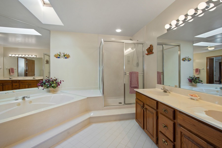 Real Estate Photography - 349 W Whispering Pines Ct, Inverness, IL, 60010 - Master Bathroom