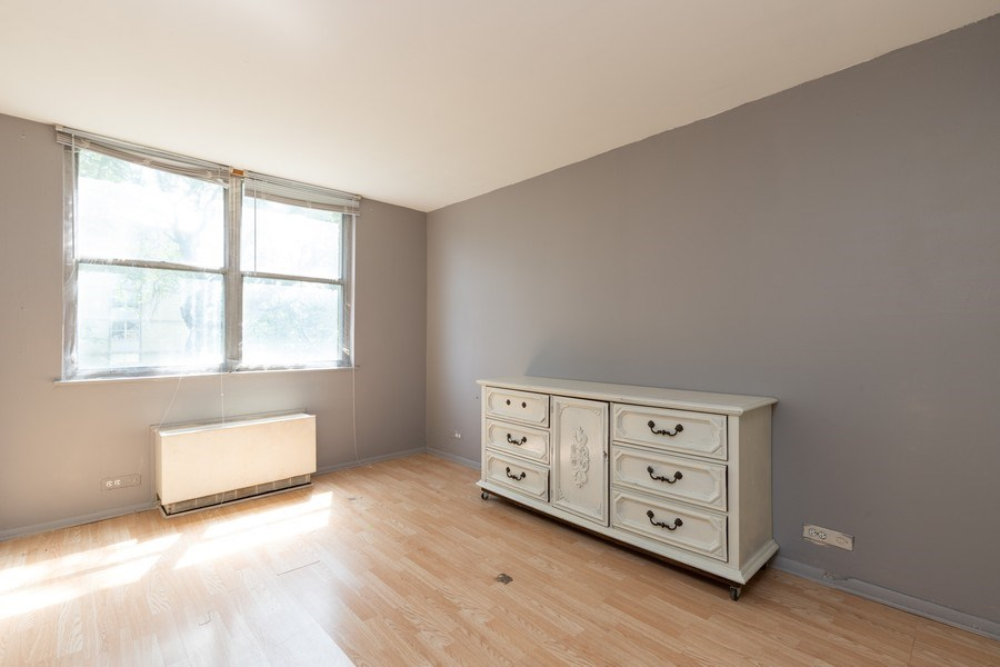 Real Estate Photography - 4281 W 76th St, Unit 204C, Chicago, IL, 60652 - Bedroom