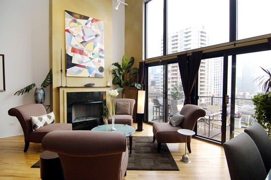 Real Estate Photography - 616 W Fulton, Unit 712, Chicago, IL, 60661 - Living Room