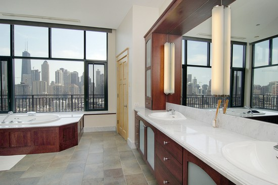 Real Estate Photography - 400 W Ontario St, Penthouse, Chicago, IL, 60610 - Master Bathroom