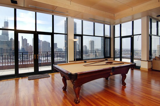 Real Estate Photography - 400 W Ontario St, Penthouse, Chicago, IL, 60610 - Recreational Area