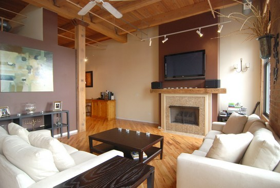 Real Estate Photography - 616 W Fulton St, Unit 510, Chicago, IL, 60661 - Living Room