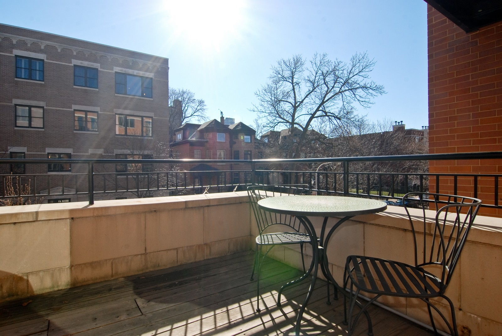 Real Estate Photography - 4150 N Kenmore Ave, Chicago, IL, 60613 - Balcony