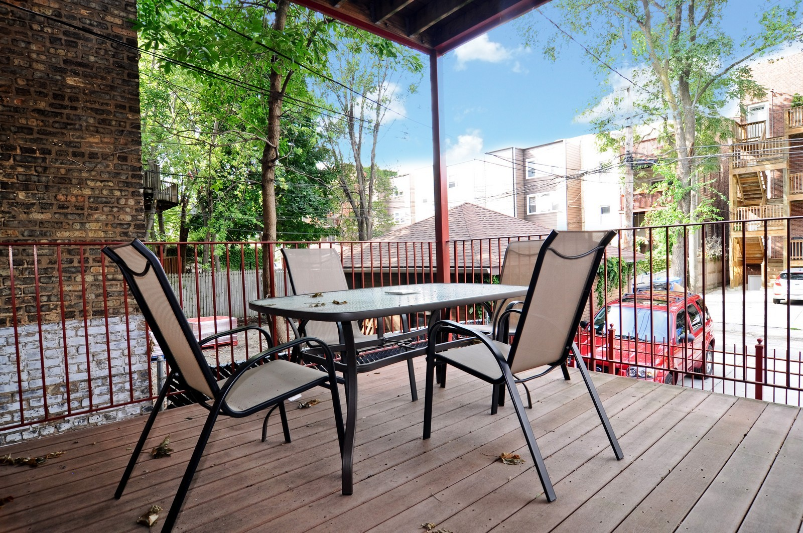 Real Estate Photography - 1514 W Victoria, Unit 1, Chicago, IL, 60660 - Deck