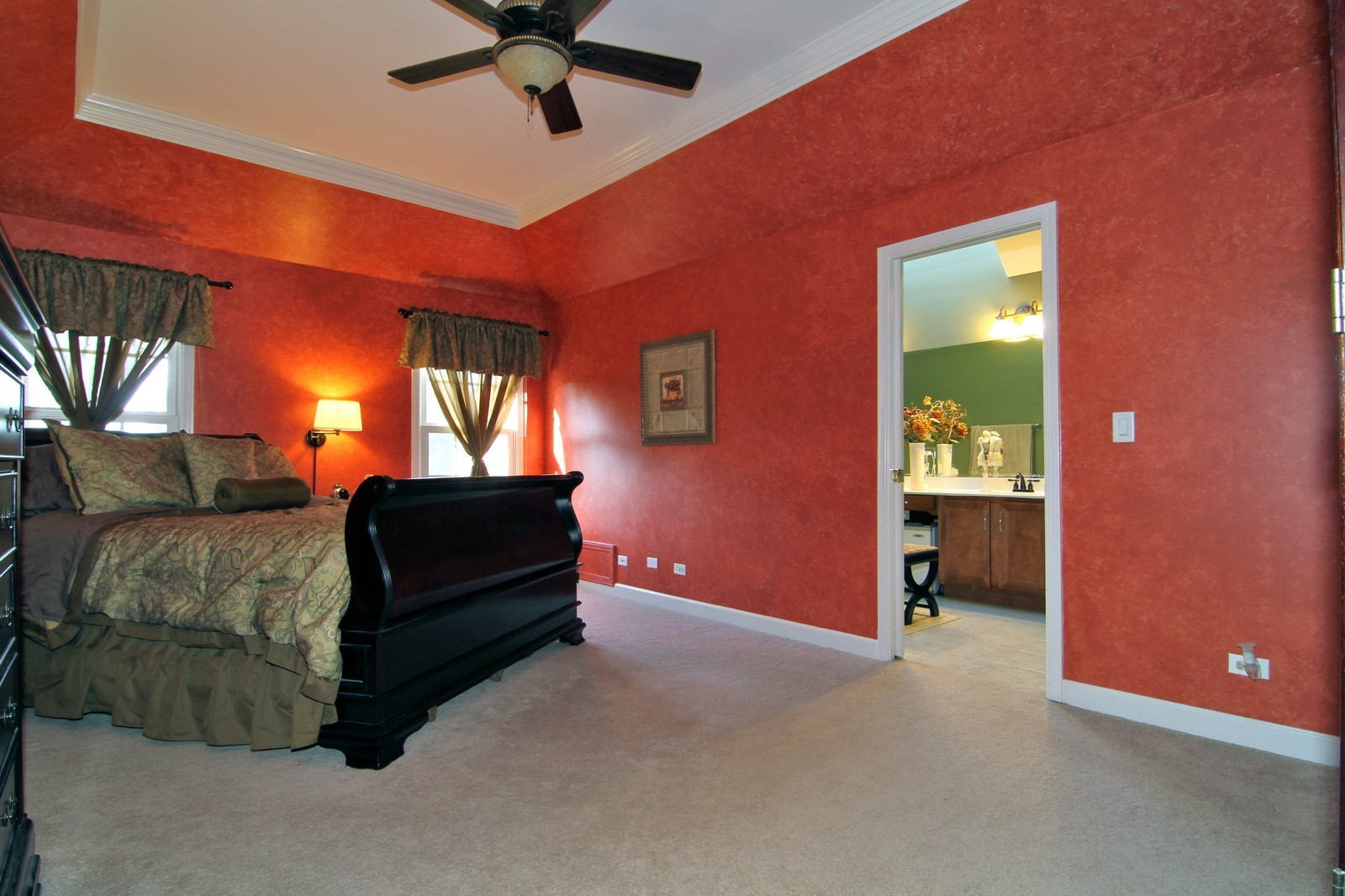 Real Estate Photography - 3801 King Richard Ct, St Charles, IL, 60174 - Master Bedroom