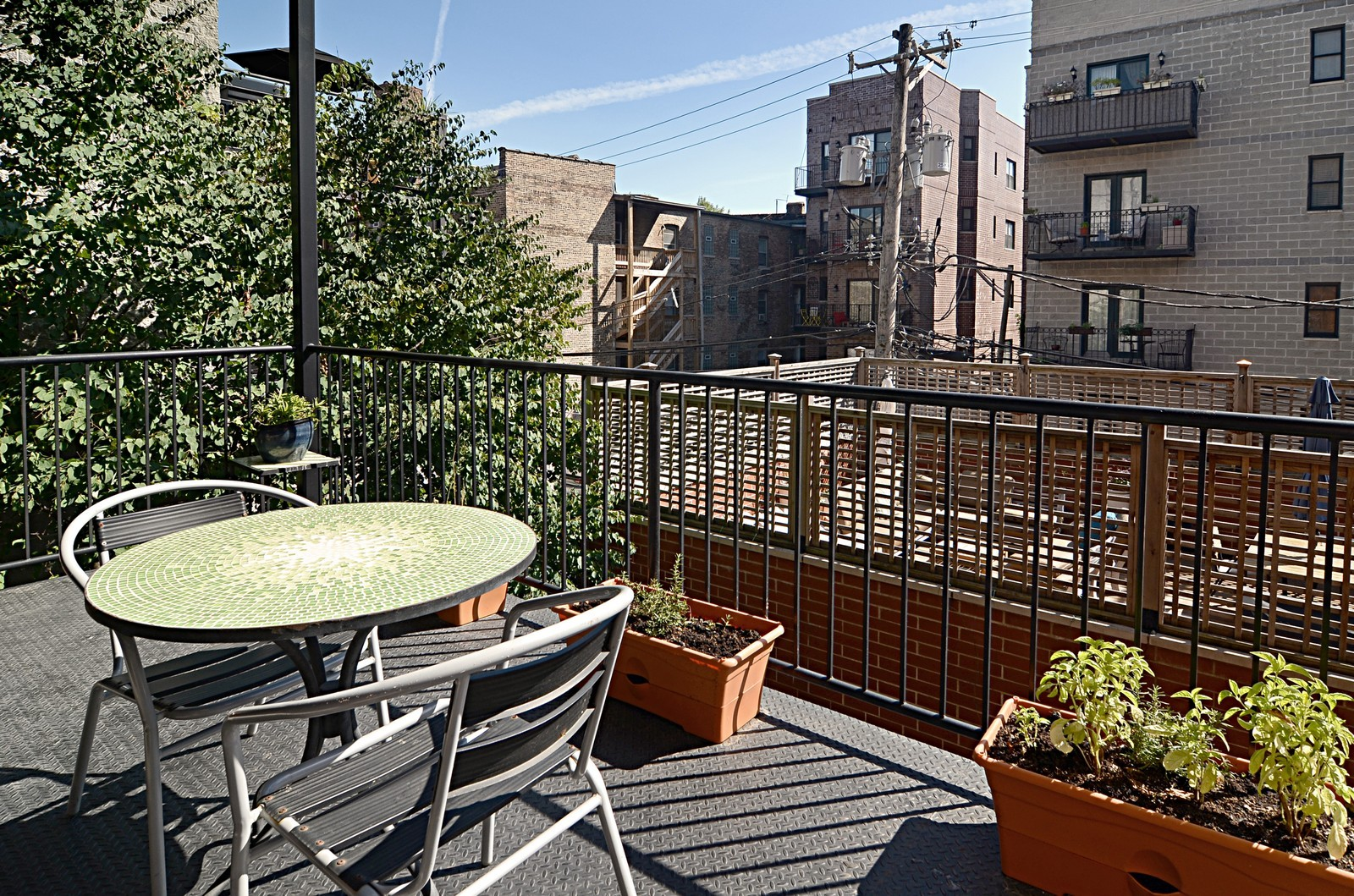 Real Estate Photography - 639 W Briar, Unit 2E, Chicago, IL, 60610 - Deck