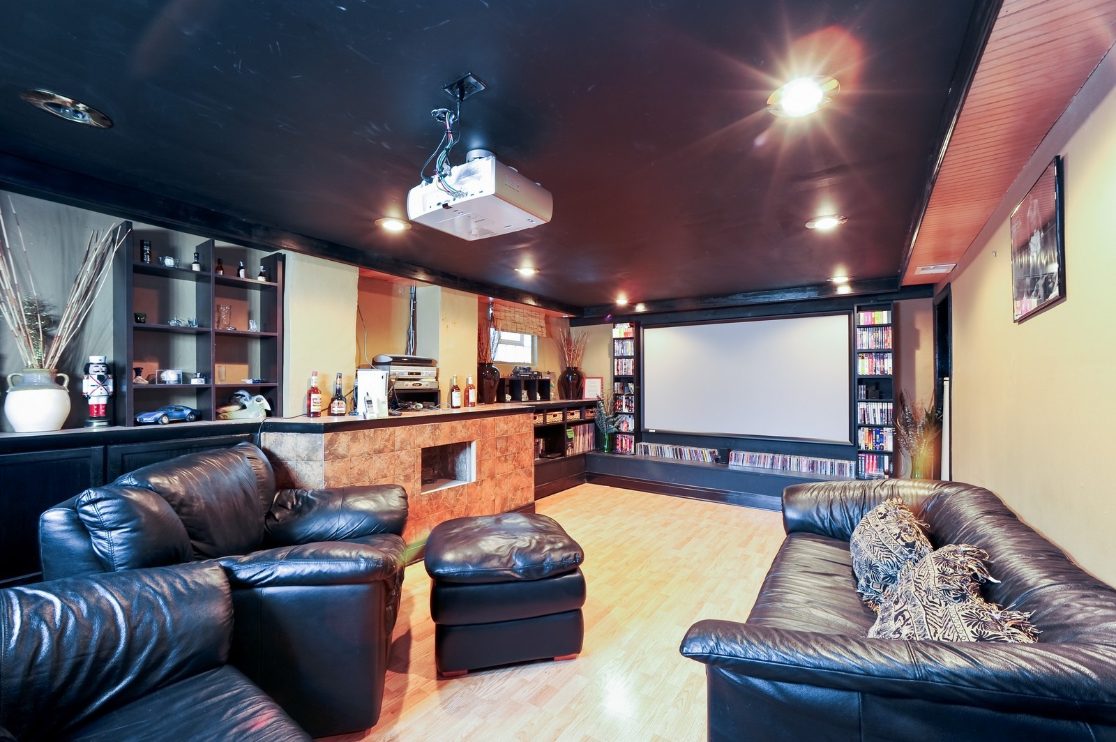 Real Estate Photography - 1837 Ashland Ave, Evanston, IL, 60201 - Media Room