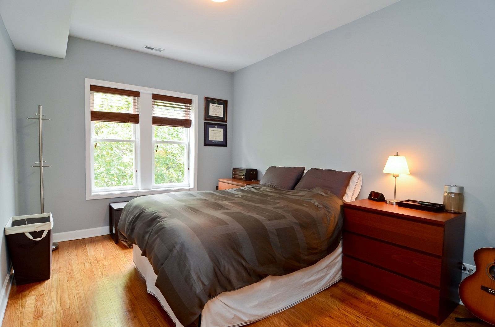 Real Estate Photography - 4845 N. Wolcott Ave, #3W, Chicago, IL, 60645 - Master Bedroom