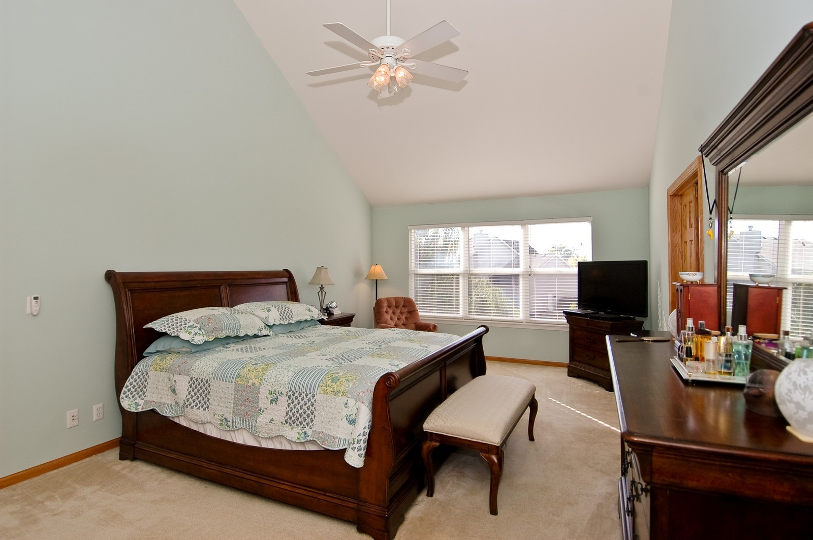 Real Estate Photography - 1353 Boxwood, Crystal Lake, IL, 60014 - Master Bedroom