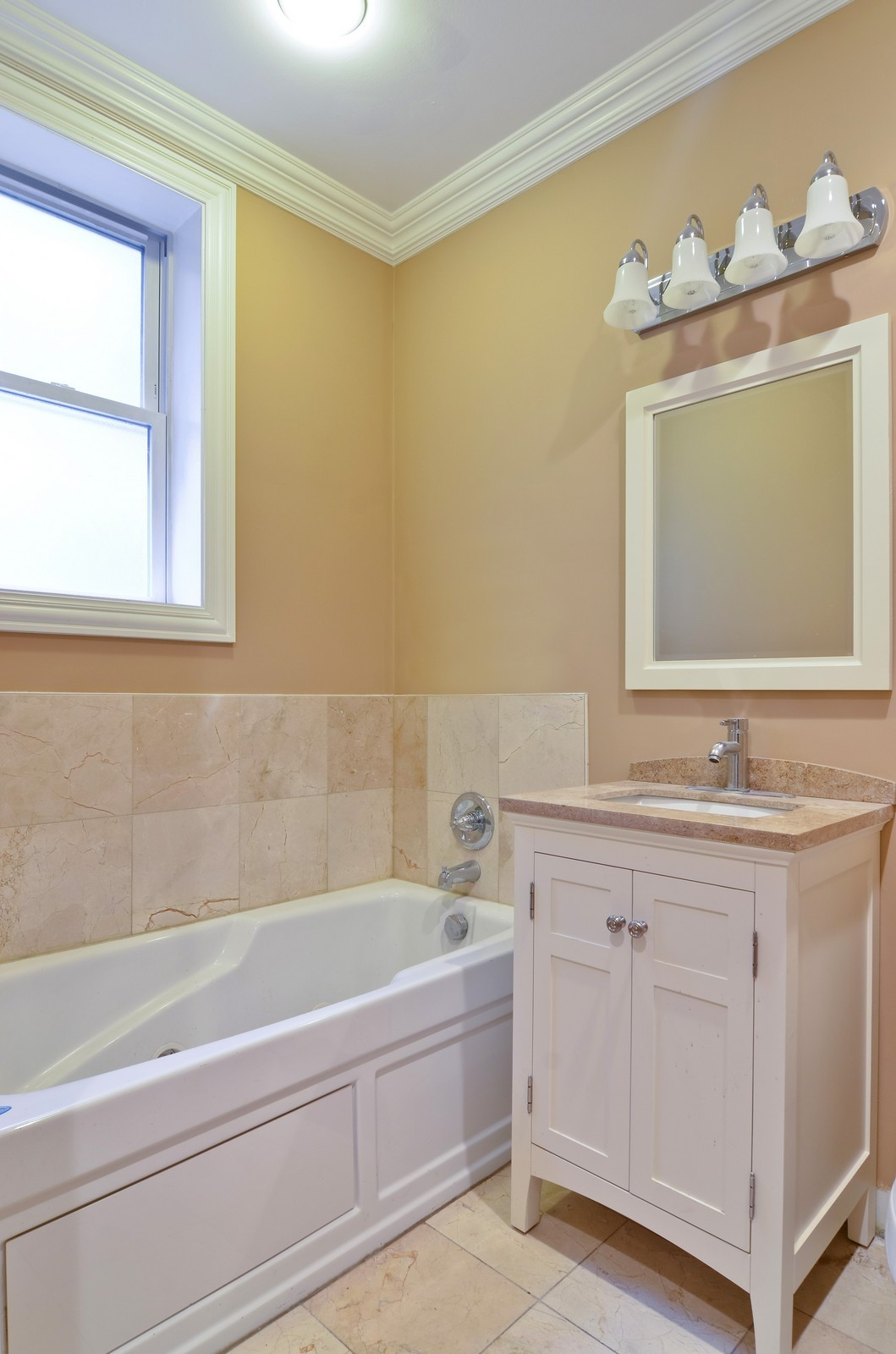 Real Estate Photography - 1908 N Whipple, Unit 2, Chicago, IL, 60647 - Bathroom