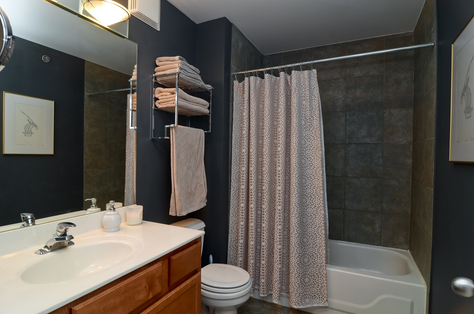 Real Estate Photography - 215 N Aberdeen, 508B, Chicago, IL, 60607 - Bathroom
