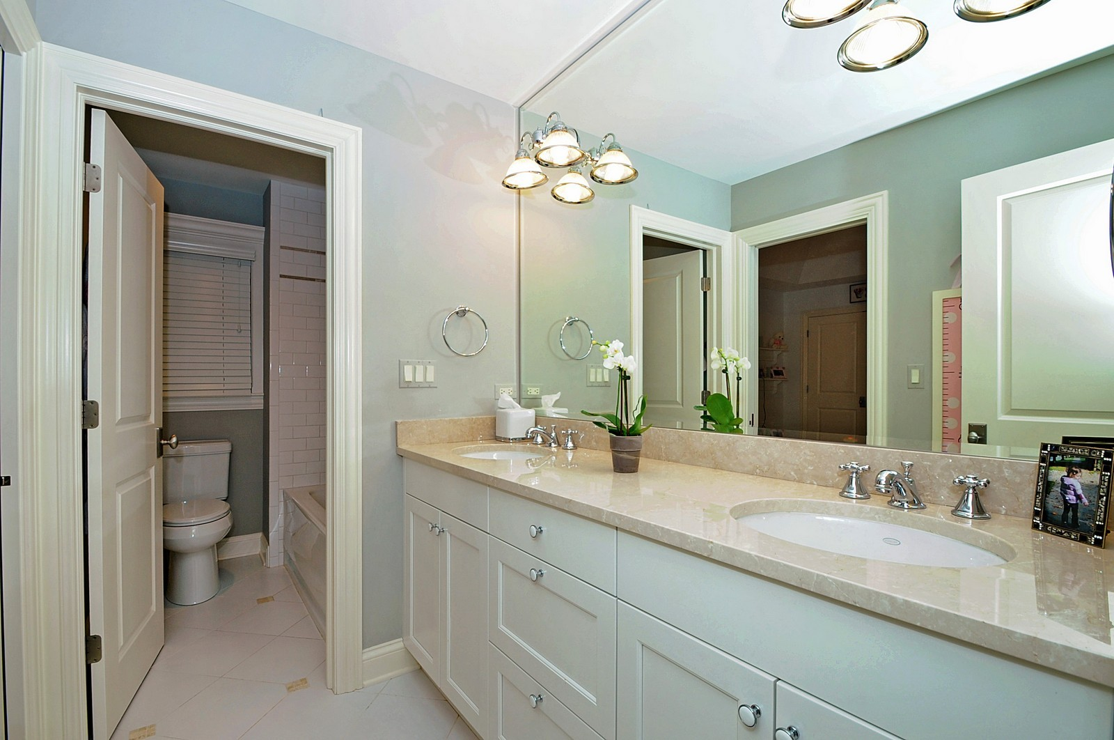 Real Estate Photography - 1789 Elmwood, Highland Park, IL, 60035 - 3rd Bathroom