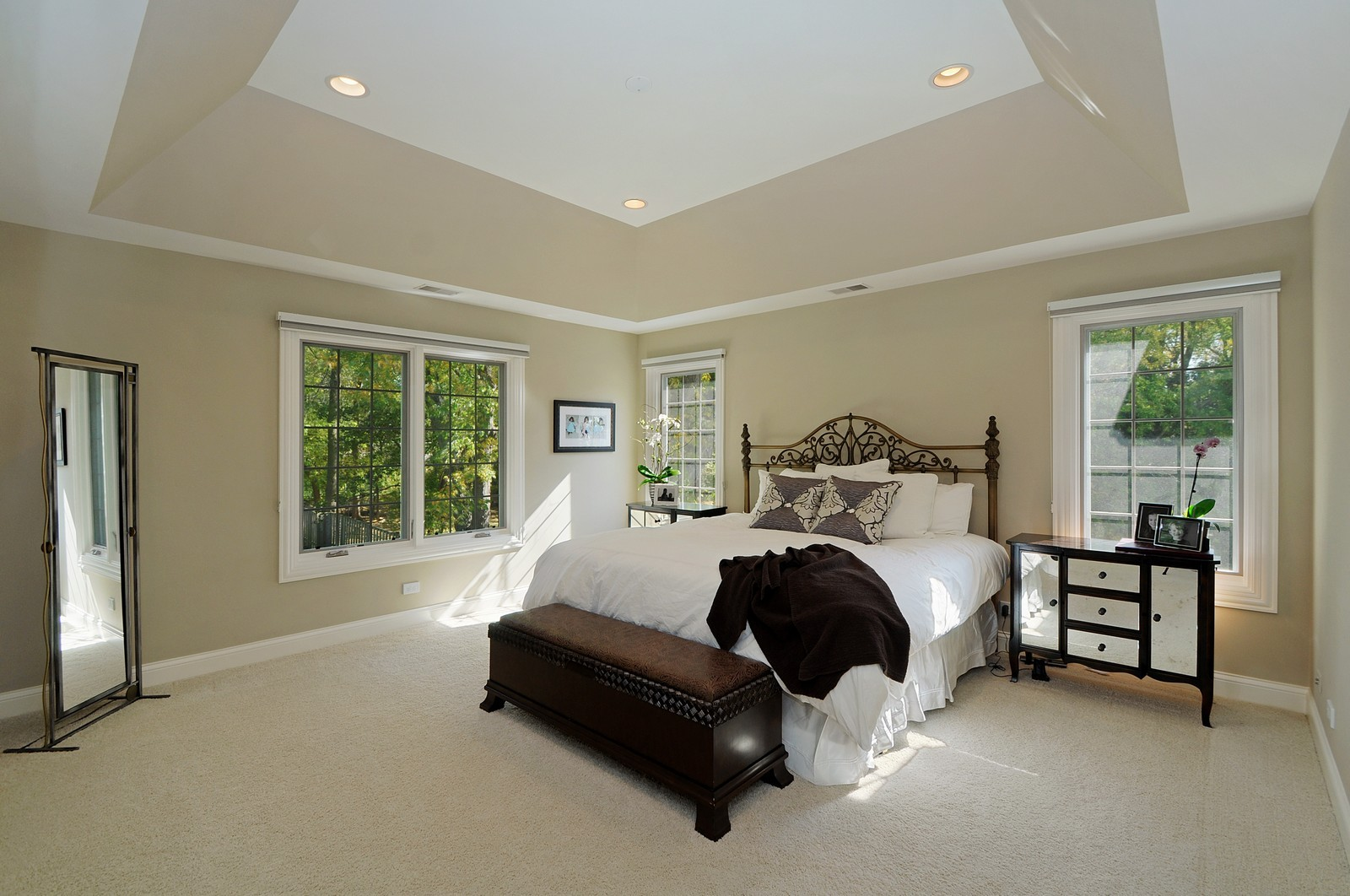 Real Estate Photography - 1789 Elmwood, Highland Park, IL, 60035 - Master Bedroom