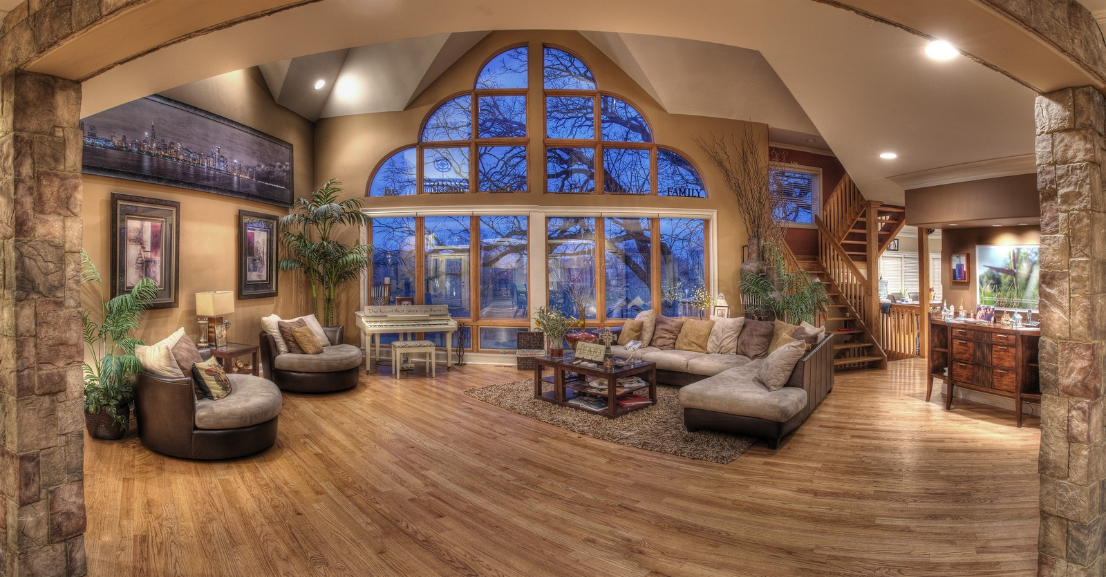 Real Estate Photography - 35w740 Valley View Road, West Dundee, IL, 60118 - Living Room