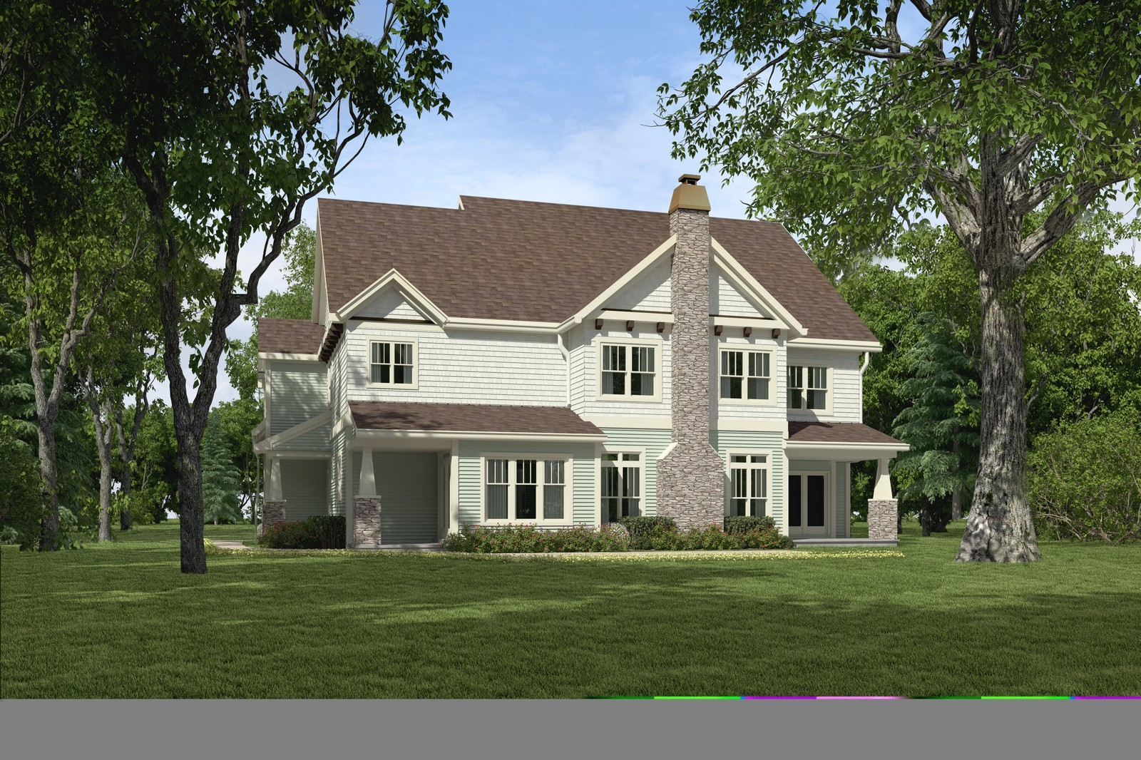 Real Estate Photography - 231 Woodlawn Ave, Winnetka, IL, 60093 - Back View of 231 Woodlawn Ave, Glencoe