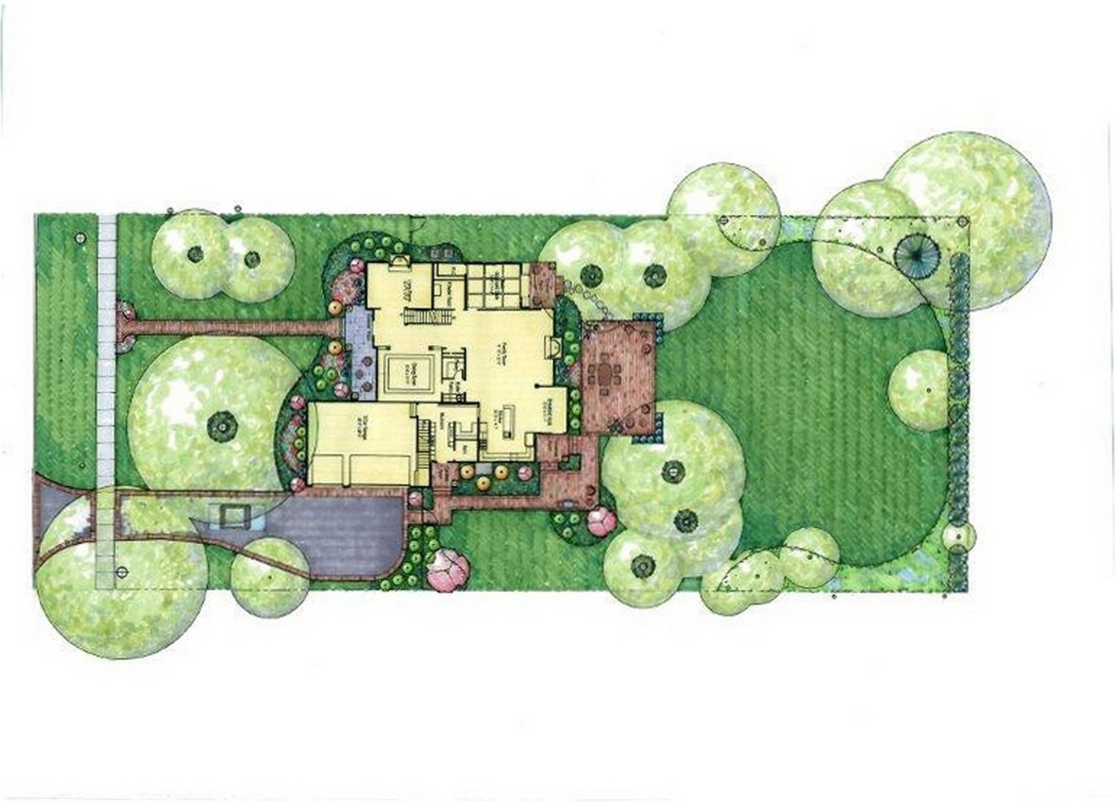 Real Estate Photography - 231 Woodlawn Ave, Winnetka, IL, 60093 - 231 Woodlawn Ave Landscape plan