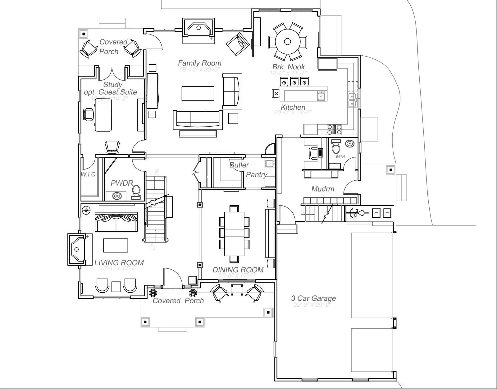 Real Estate Photography - 231 Woodlawn Ave, Winnetka, IL, 60093 - 1st Floor Plan 231 Woodlawn Ave, Glencoe