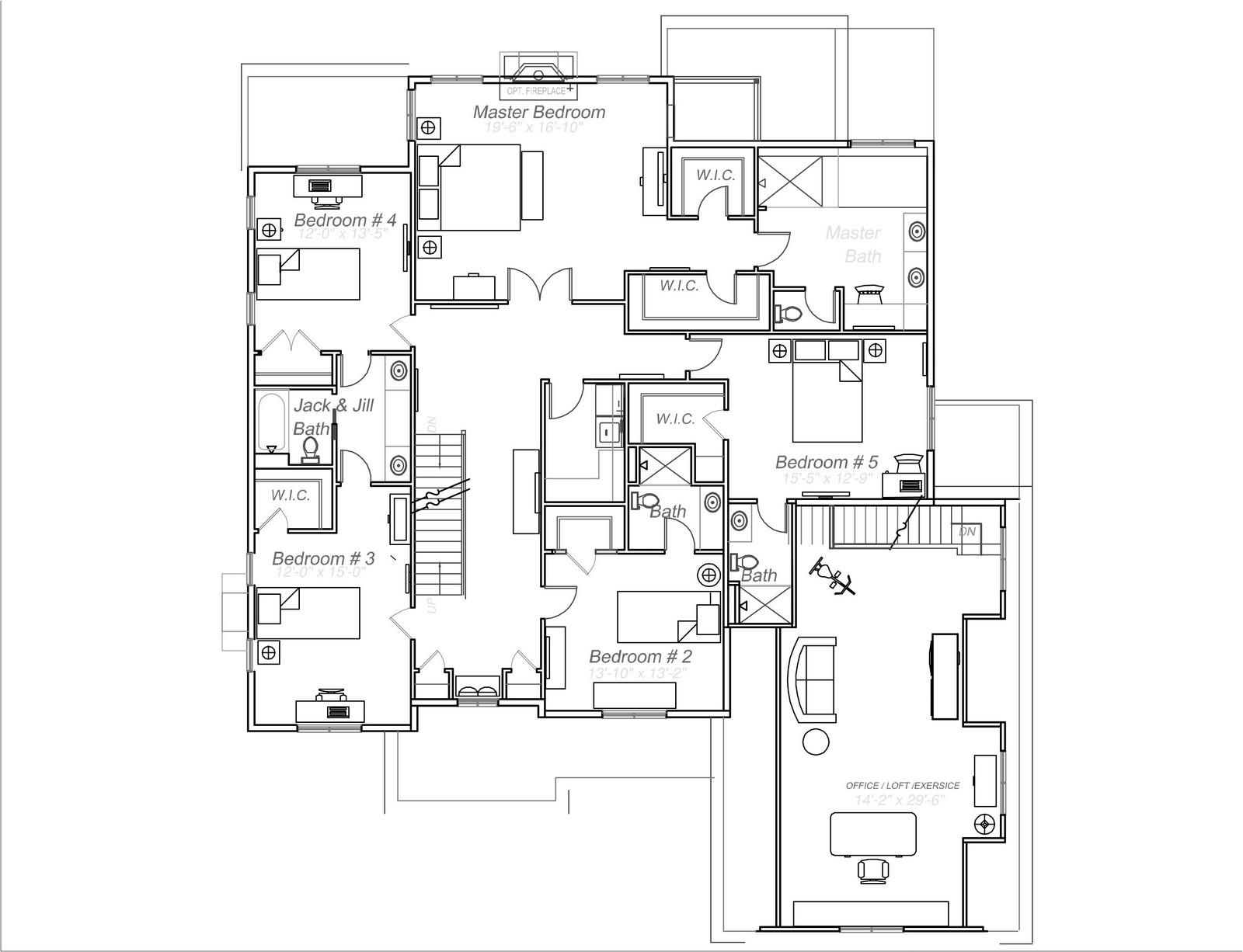 Real Estate Photography - 231 Woodlawn Ave, Winnetka, IL, 60093 - 2nd level plan 231 Woodlawn Ave, Glencoe