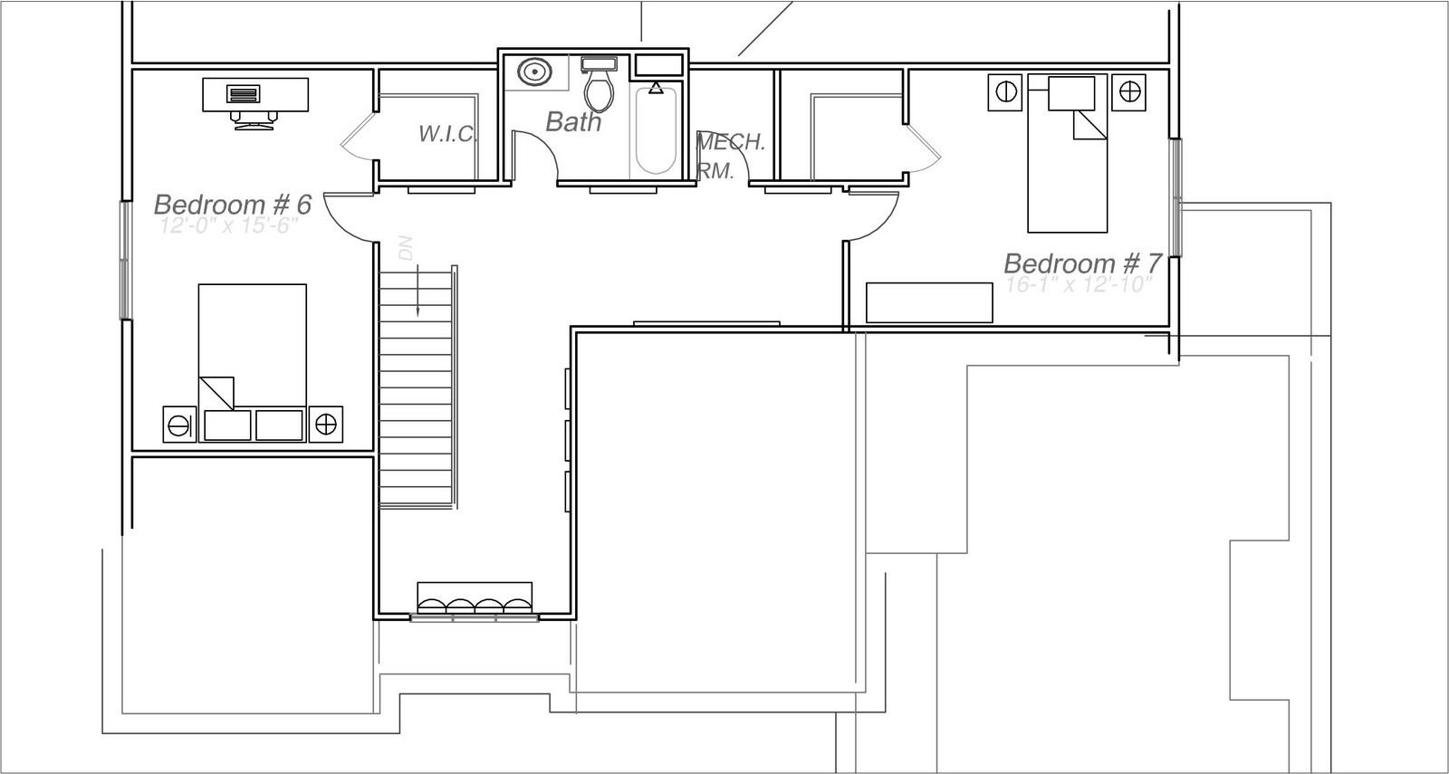 Real Estate Photography - 231 Woodlawn Ave, Winnetka, IL, 60093 - Attic Plan 231 Woodlawn Ave, Glencoe