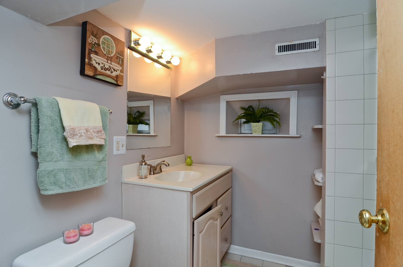Real Estate Photography - 3525 W Wollfram, Chicago, IL, 60618 - 3rd Bathroom
