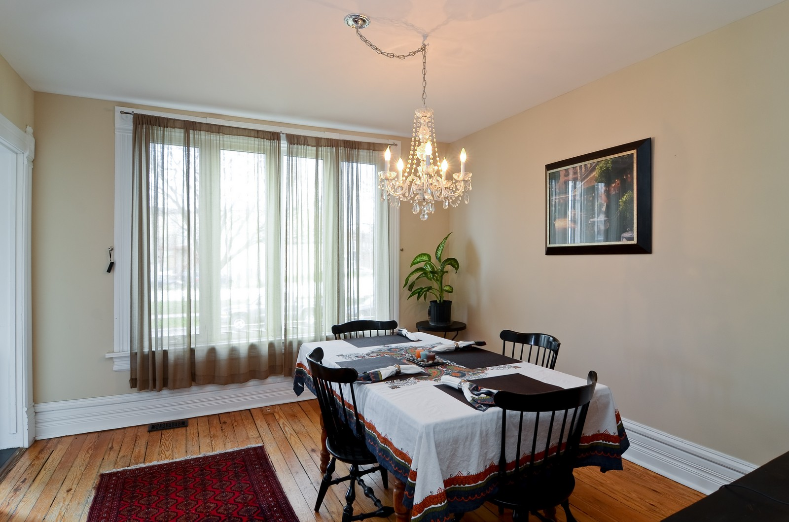 Real Estate Photography - 3525 W Wollfram, Chicago, IL, 60618 - Dining Room