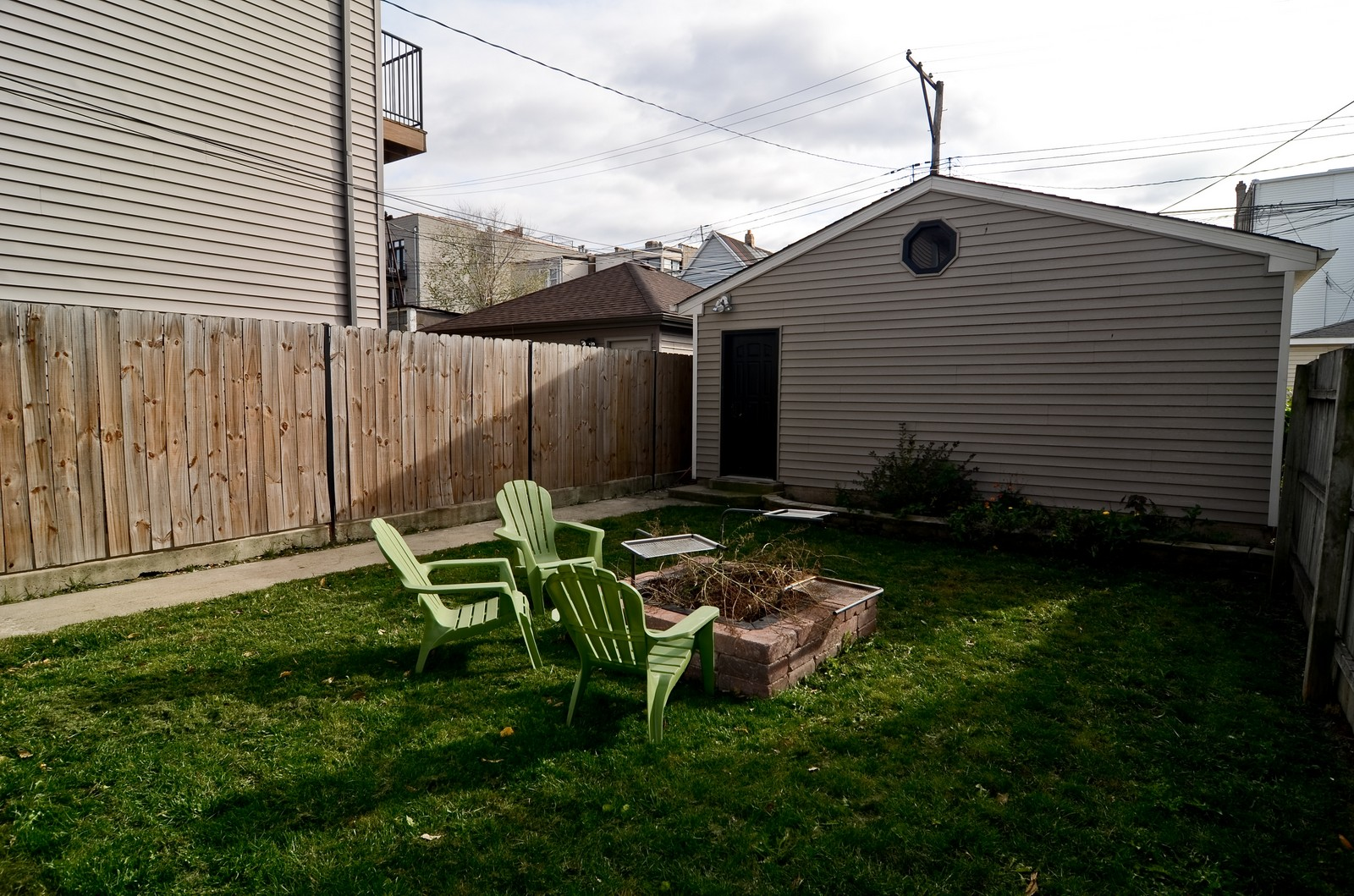 Real Estate Photography - 3525 W Wollfram, Chicago, IL, 60618 - Back Yard