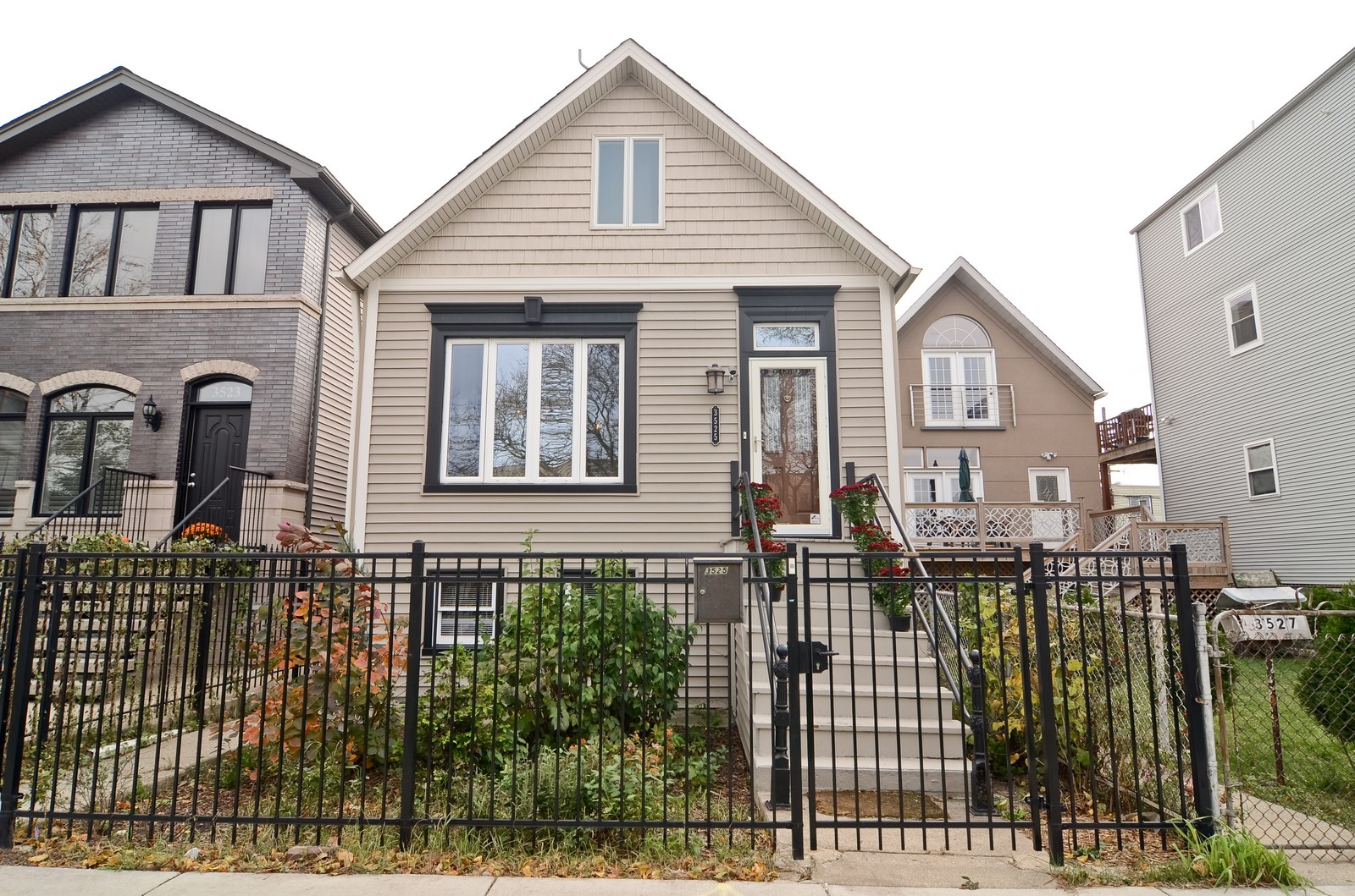 Real Estate Photography - 3525 W Wollfram, Chicago, IL, 60618 - Front View