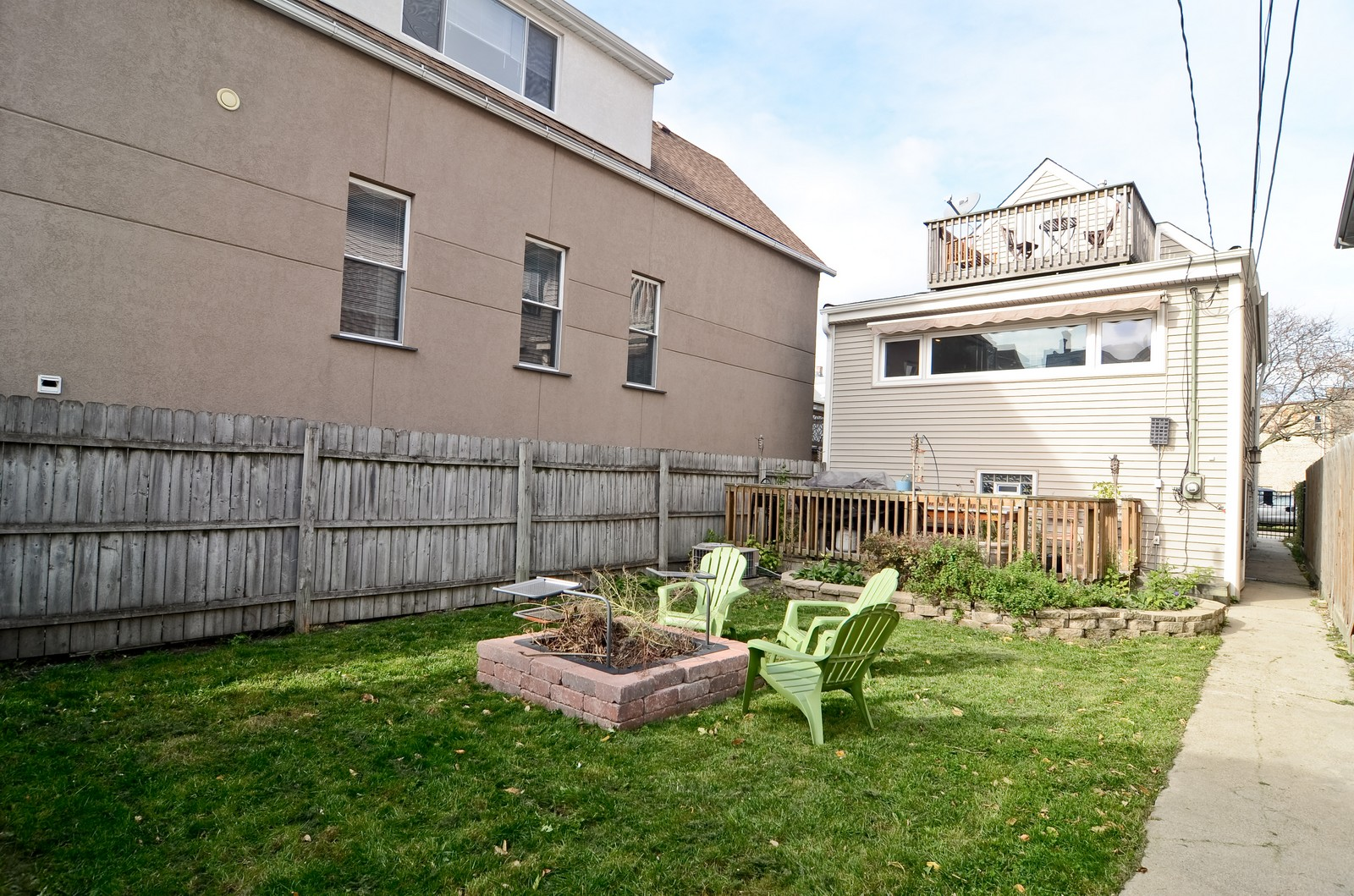 Real Estate Photography - 3525 W Wollfram, Chicago, IL, 60618 - Rear View