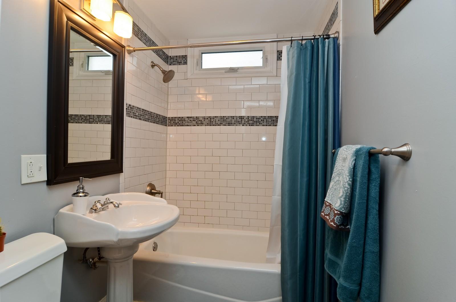Real Estate Photography - 3525 W Wollfram, Chicago, IL, 60618 - Bathroom