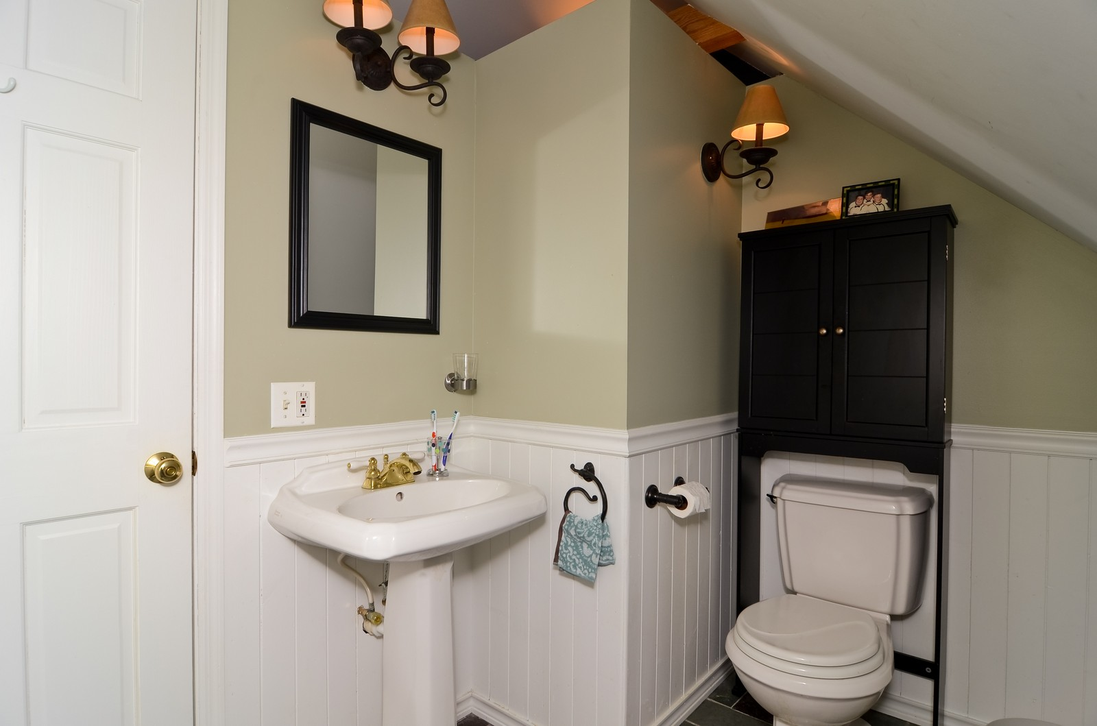 Real Estate Photography - 3525 W Wollfram, Chicago, IL, 60618 - 2nd Bathroom