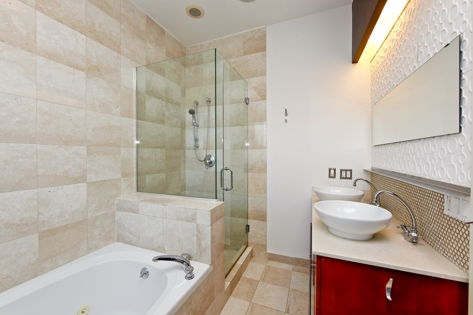 Real Estate Photography - 1017 N Wood, Unit 3N, Chicago, IL, 60622 - Master Bathroom