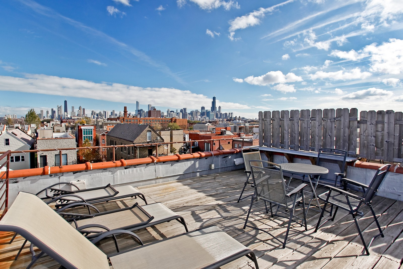 Real Estate Photography - 1017 N Wood, Unit 3N, Chicago, IL, 60622 - Roof Deck