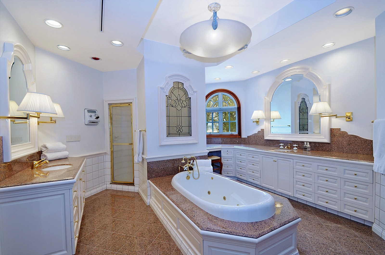 Real Estate Photography - 973 Sheridan Rd, Winnetka, IL, 60093 - Master Bathroom