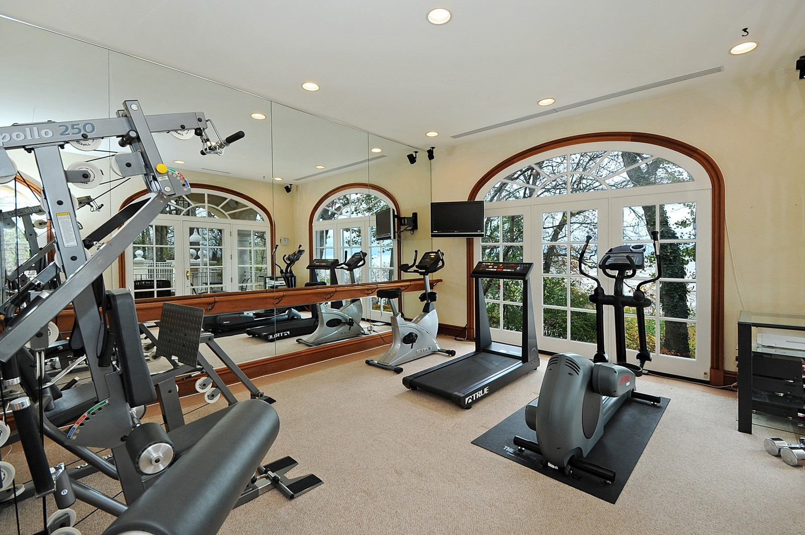 Real Estate Photography - 973 Sheridan Rd, Winnetka, IL, 60093 - Exercise Room