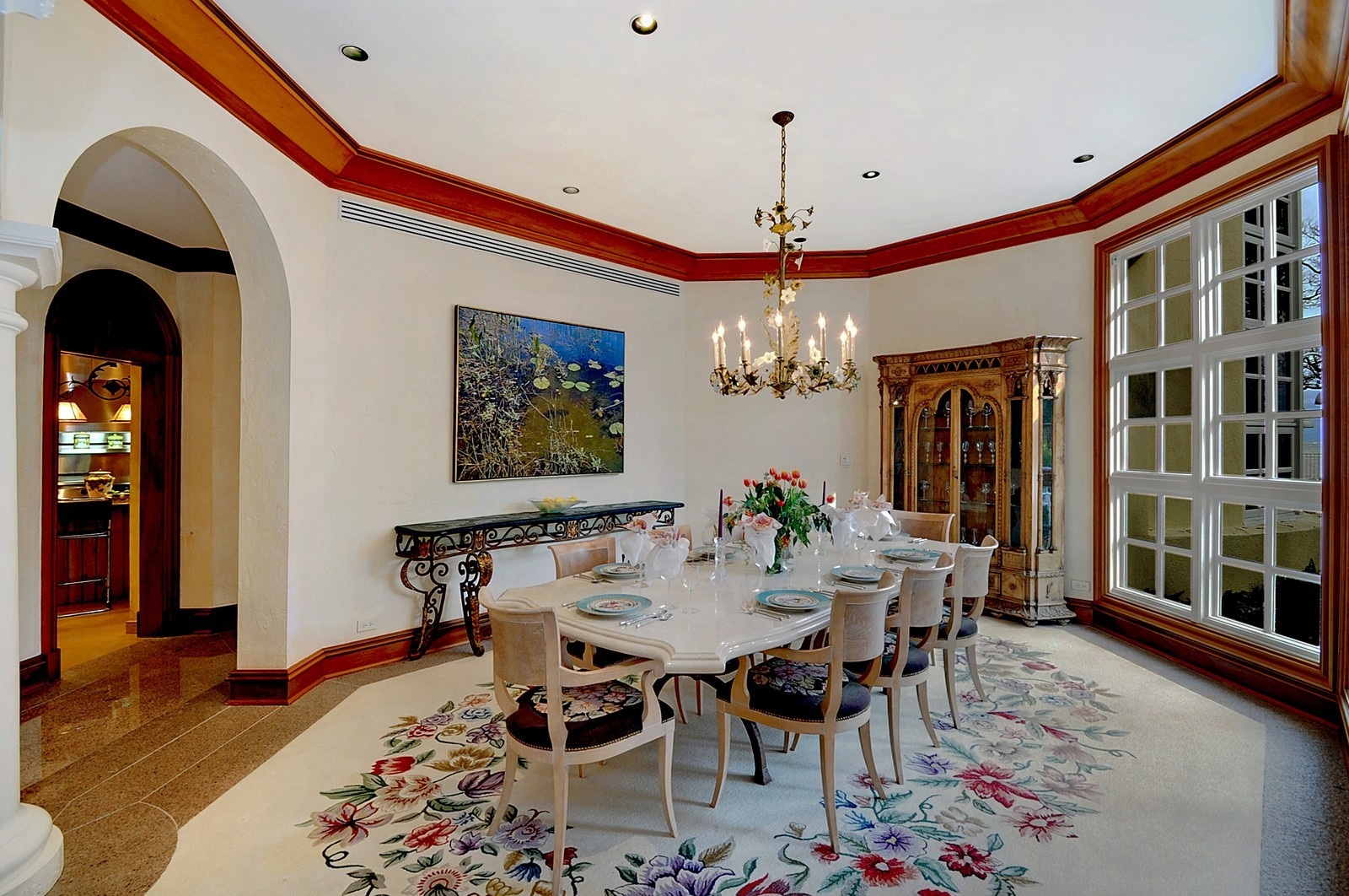 Real Estate Photography - 973 Sheridan Rd, Winnetka, IL, 60093 - Dining Room