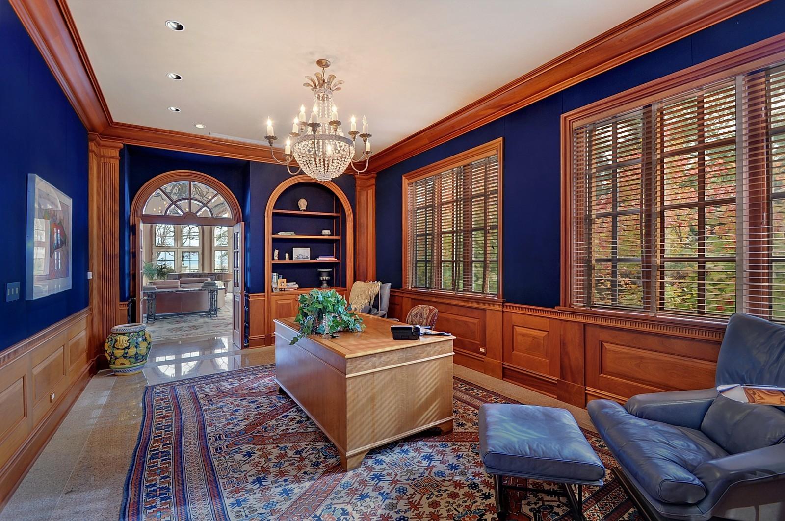 Real Estate Photography - 973 Sheridan Rd, Winnetka, IL, 60093 - Office