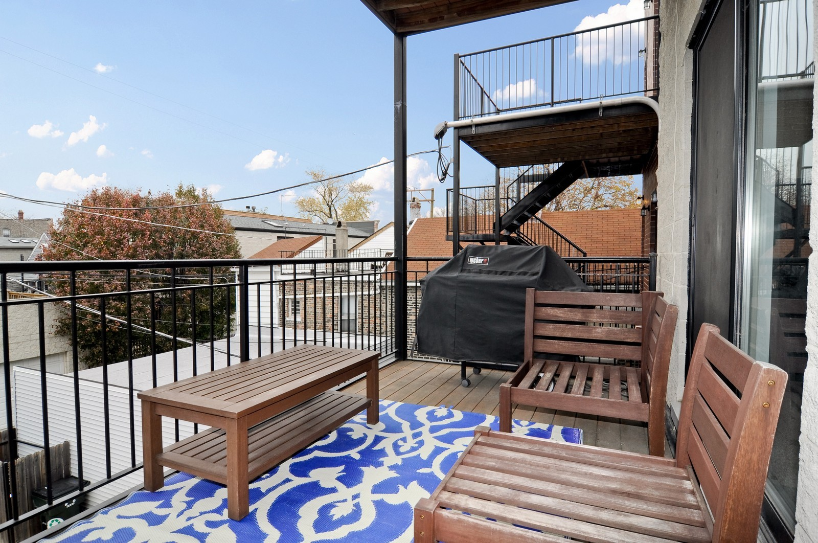 Real Estate Photography - 1846 W Armitage, Unit 2E, Chicago, IL, 60622 - Deck