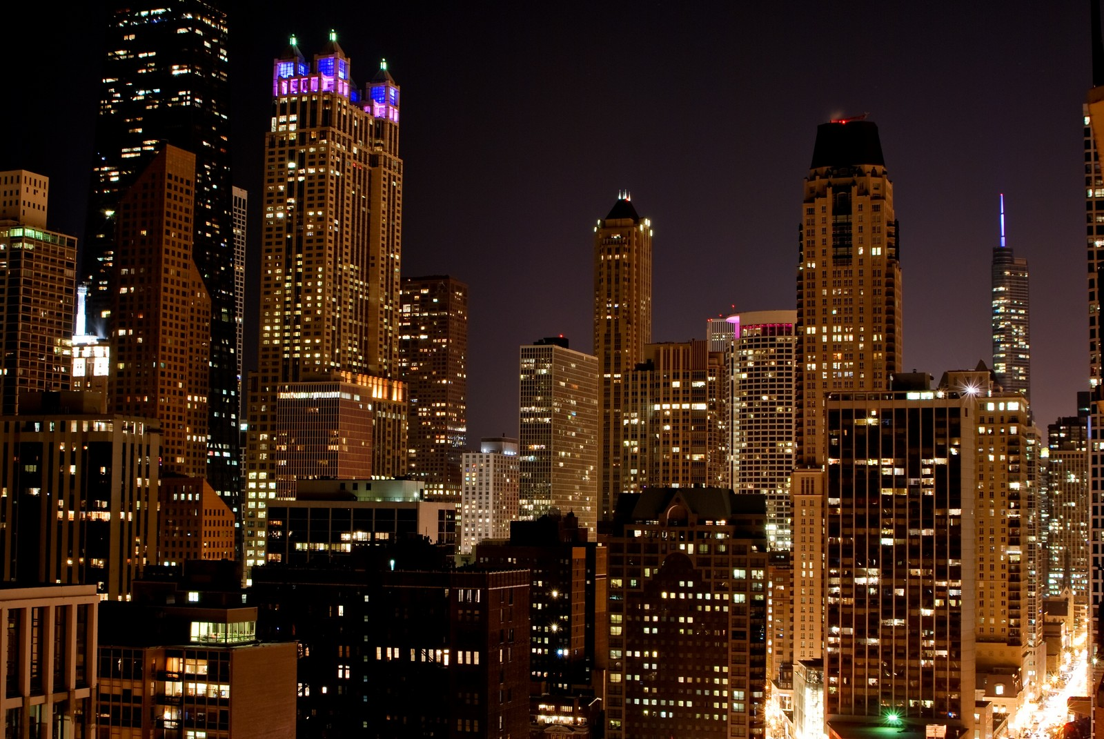 Real Estate Photography - 1230 N. State Parkway, Unit 26BC, Chicago, IL, 60610 - Stunning Night City Views