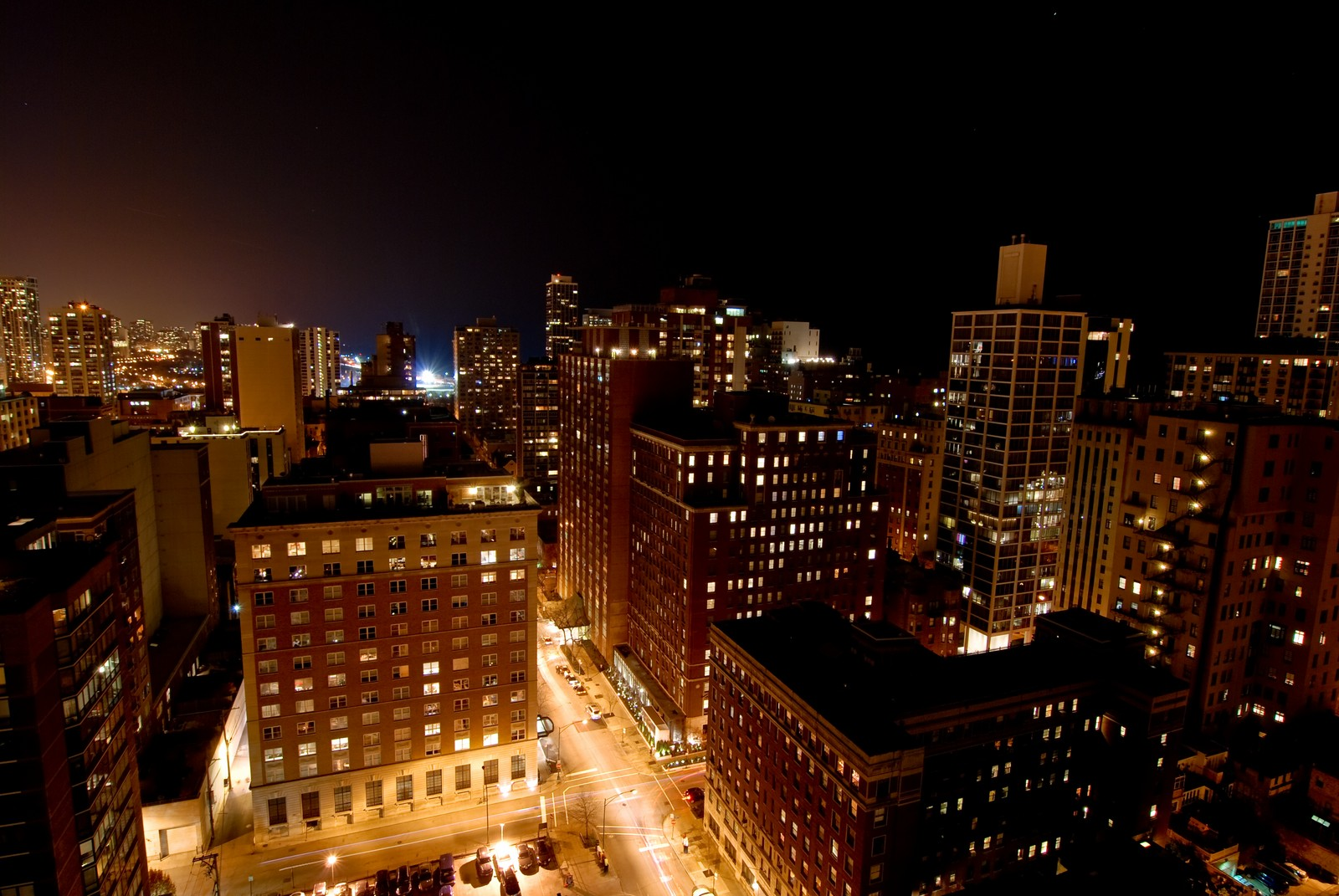 Real Estate Photography - 1230 N. State Parkway, Unit 26BC, Chicago, IL, 60610 - North Night Views