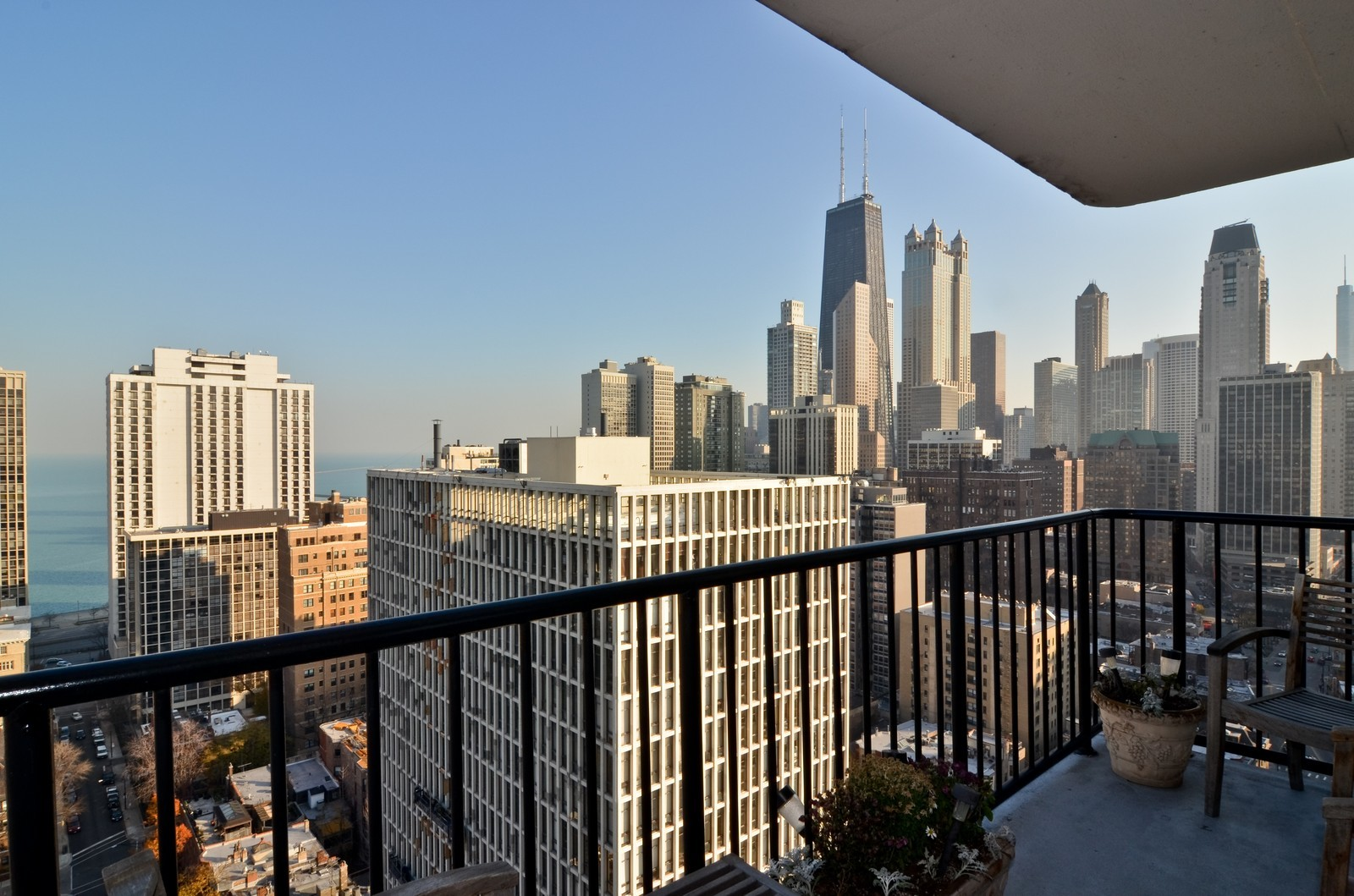 Real Estate Photography - 1230 N. State Parkway, Unit 26BC, Chicago, IL, 60610 - East Balcony View