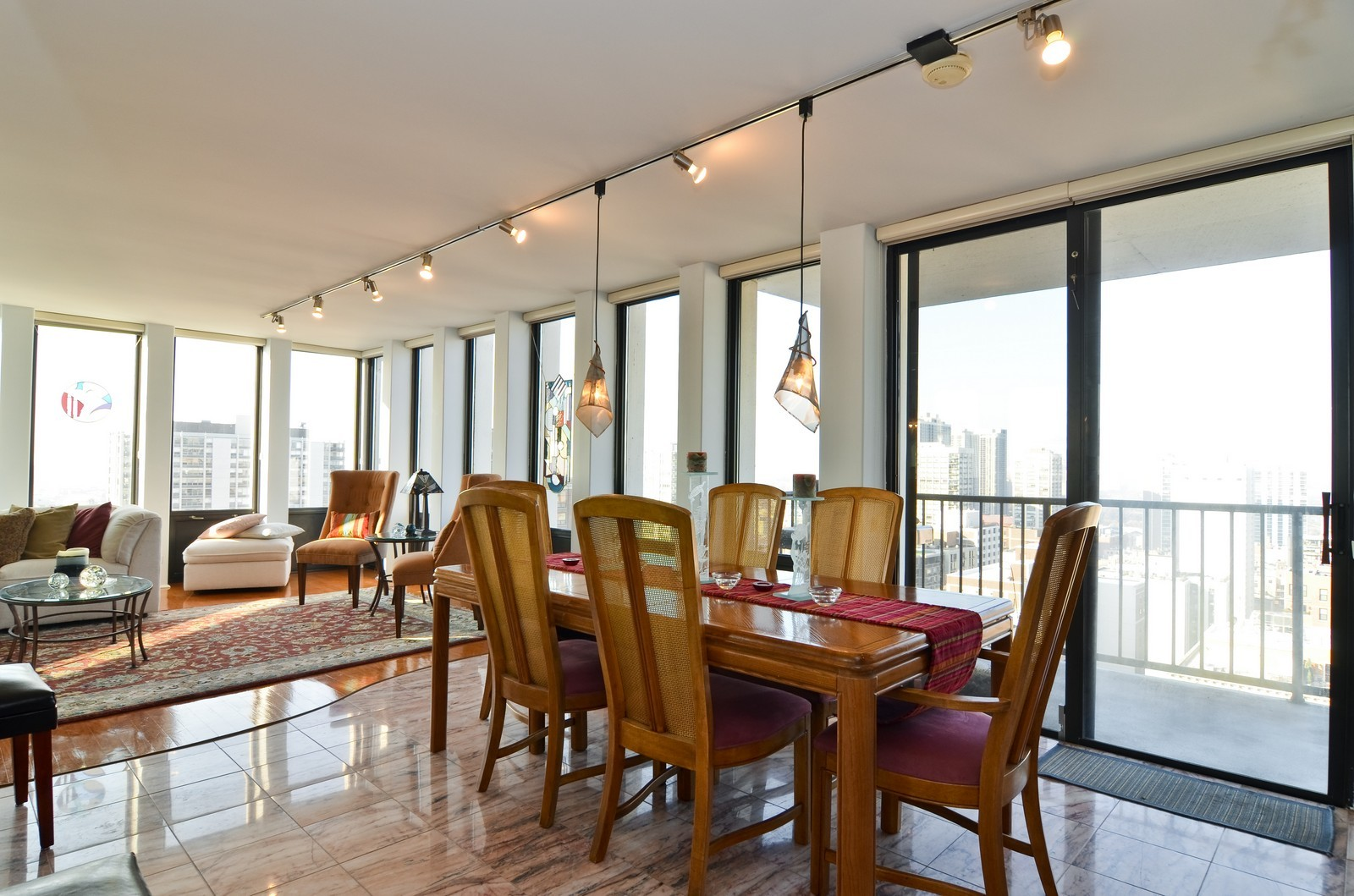 Real Estate Photography - 1230 N. State Parkway, Unit 26BC, Chicago, IL, 60610 - Dining Room with North Balcony