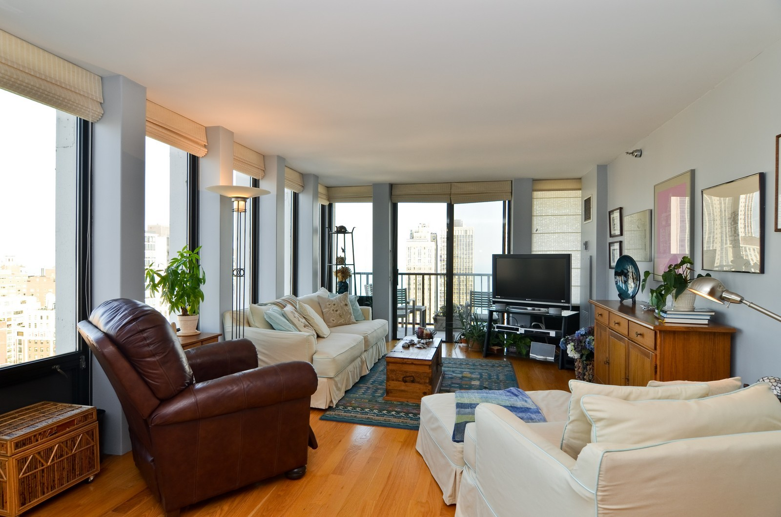 Real Estate Photography - 1230 N. State Parkway, Unit 26BC, Chicago, IL, 60610 - Family Room with North & East views