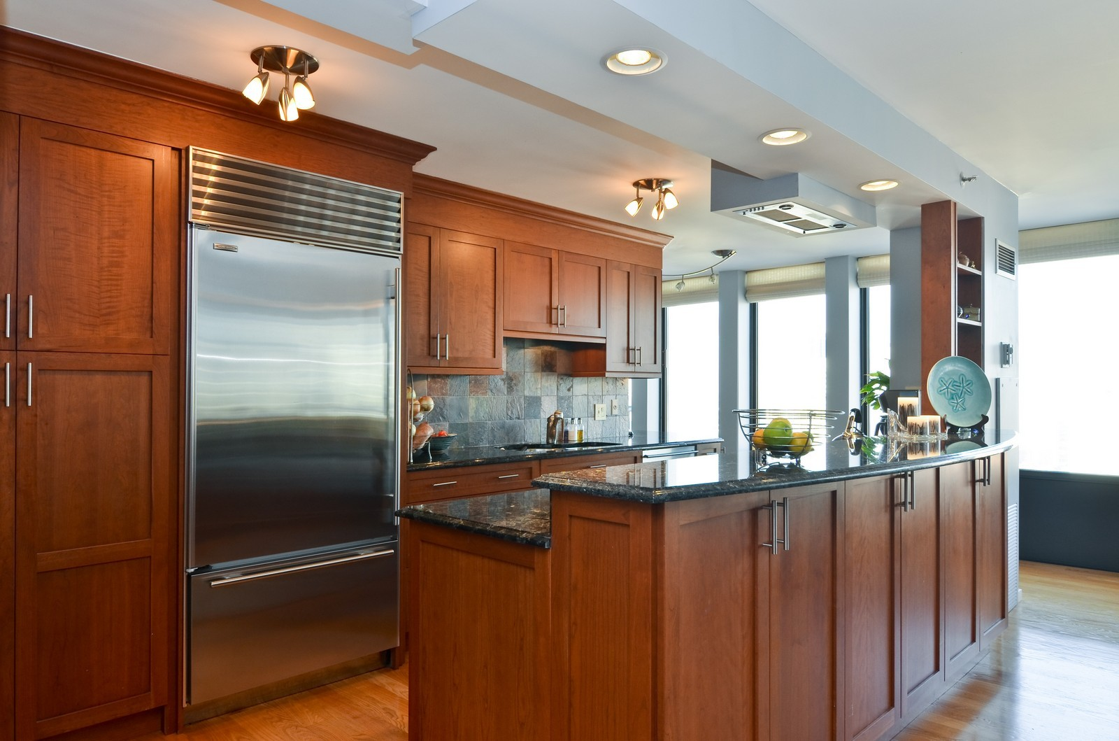 Real Estate Photography - 1230 N. State Parkway, Unit 26BC, Chicago, IL, 60610 - Updated kitchen with breakfast bar