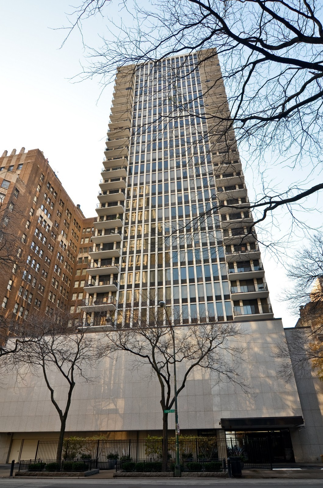 Real Estate Photography - 1230 N. State Parkway, Unit 26BC, Chicago, IL, 60610 - Exterior looking up from Scott Street