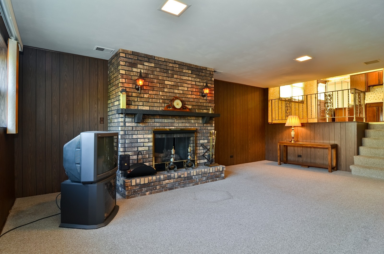 Real Estate Photography - 6959 N Dowagiac, Chicago, IL, 60646 - Family Room