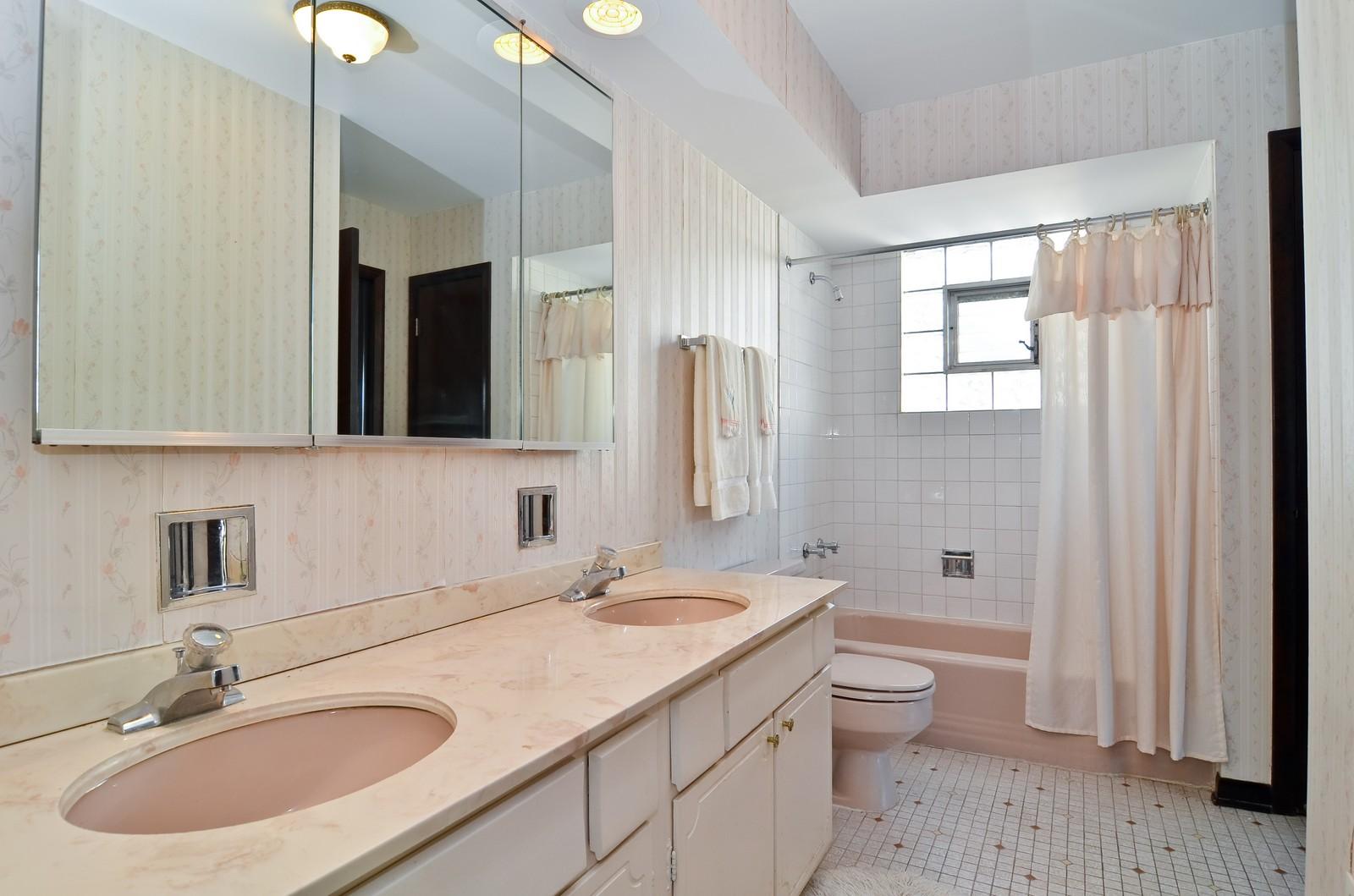 Real Estate Photography - 6959 N Dowagiac, Chicago, IL, 60646 - Bathroom