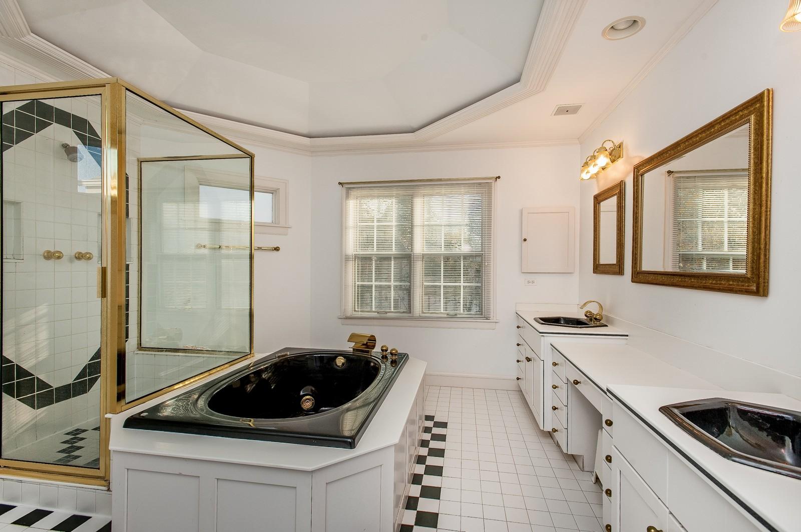 Real Estate Photography - 556 Winnetka Ave, Winnetka, IL, 60093 - Master Bathroom