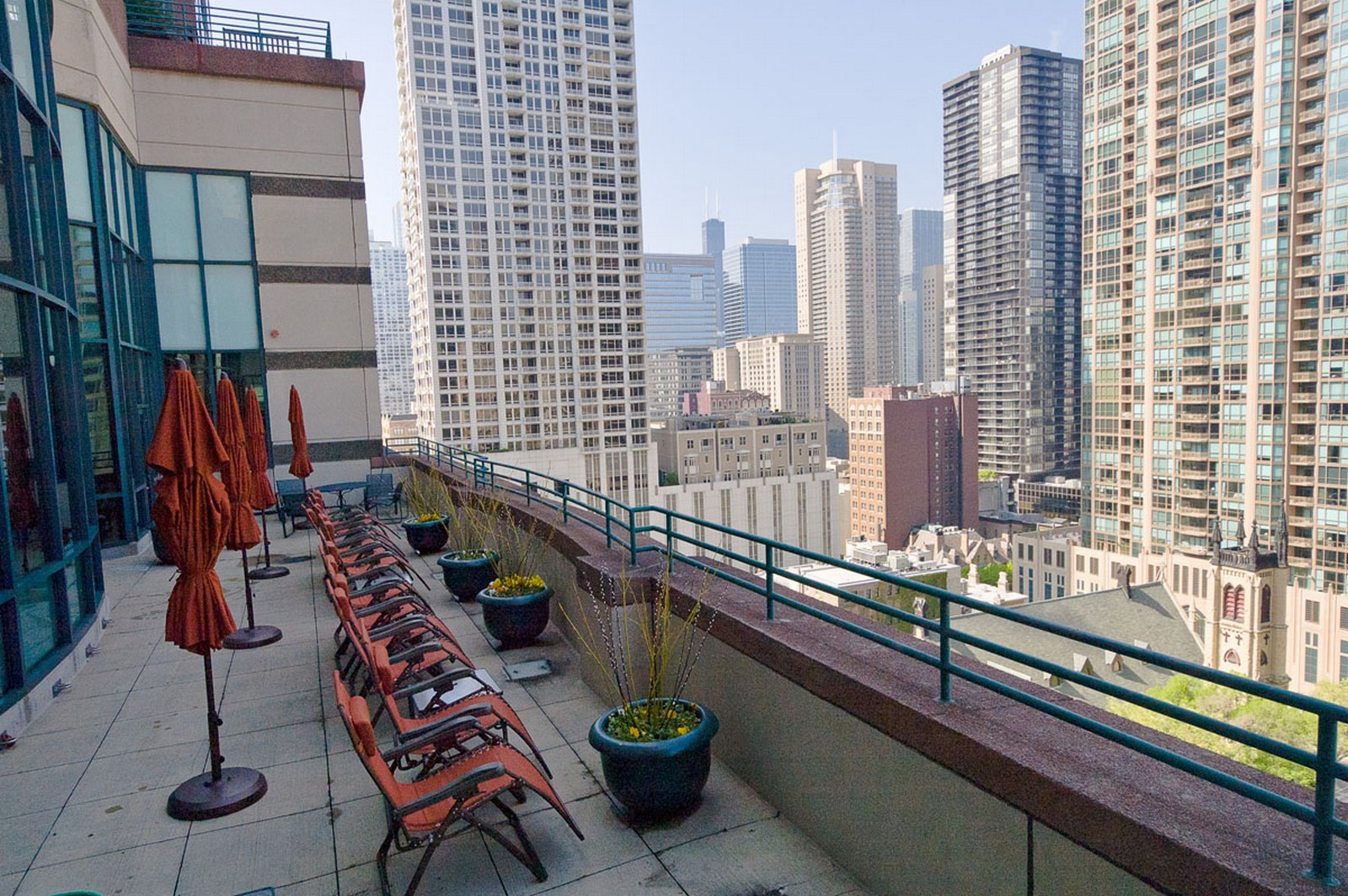 Real Estate Photography - 100 E Huron St, Apt 4201, Chicago, IL, 60611 - Roof Deck